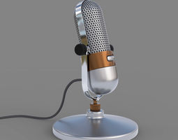 classic 3D model Vintage Microphone