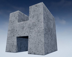 Seamless Customizable Concrete Material Pack 102 3D model