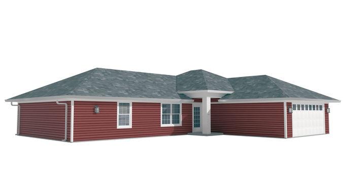 house-026 low poly 3d model max obj 3ds fbx dwg mtl 1