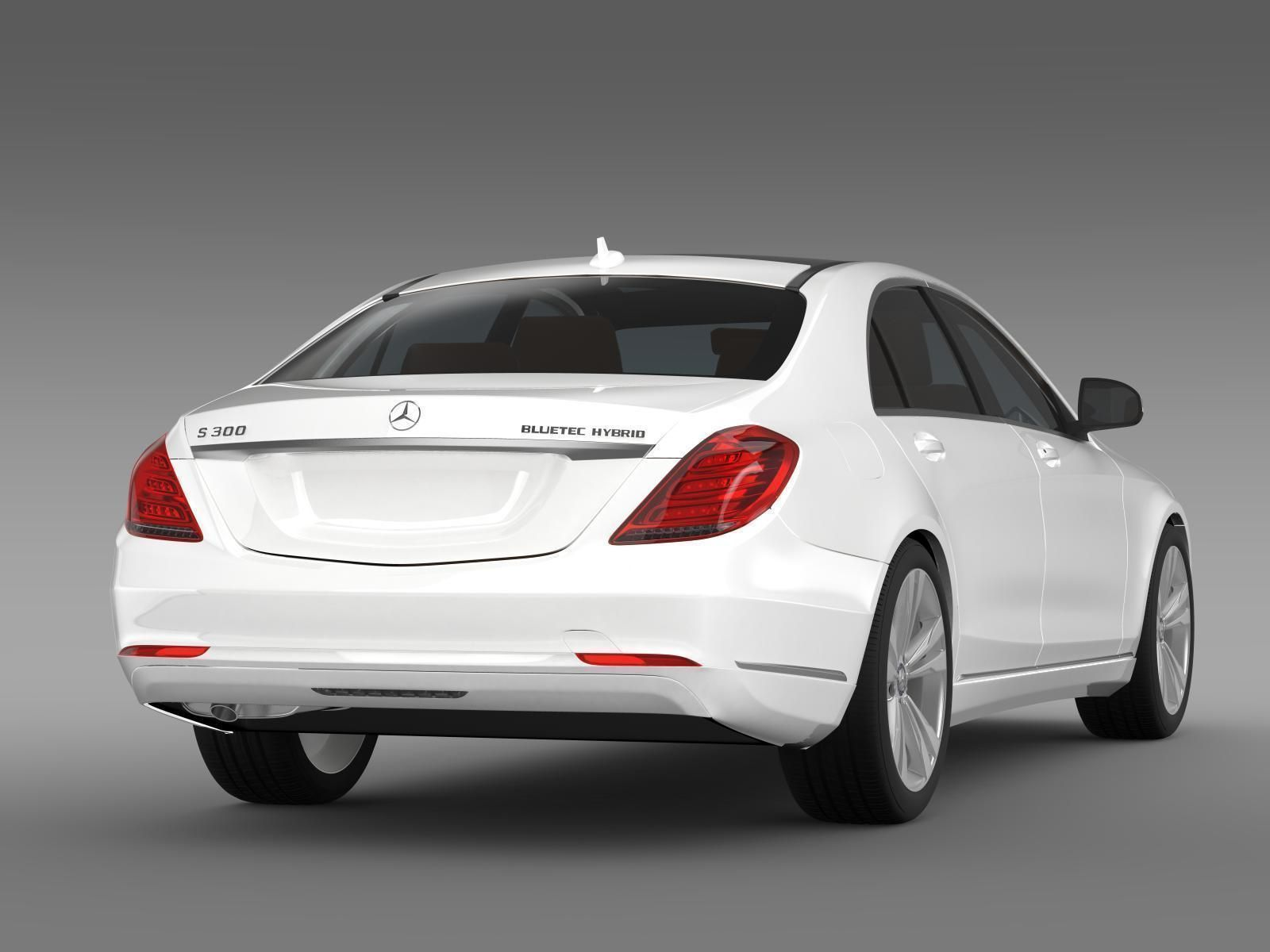 mercedes benz s 300 bluetec hybrid w222 2014 3d model max. Black Bedroom Furniture Sets. Home Design Ideas