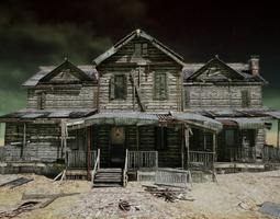 UE4 Abandoned wooden house modular V01 Basic 3D asset 2