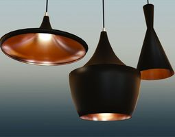 Lamp Black and Copper 3D Model interior-design