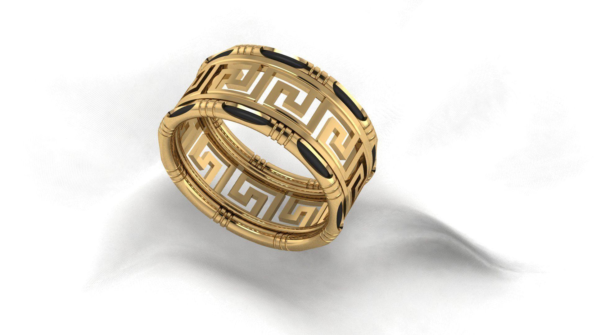 Versace Border Ring Model Stl