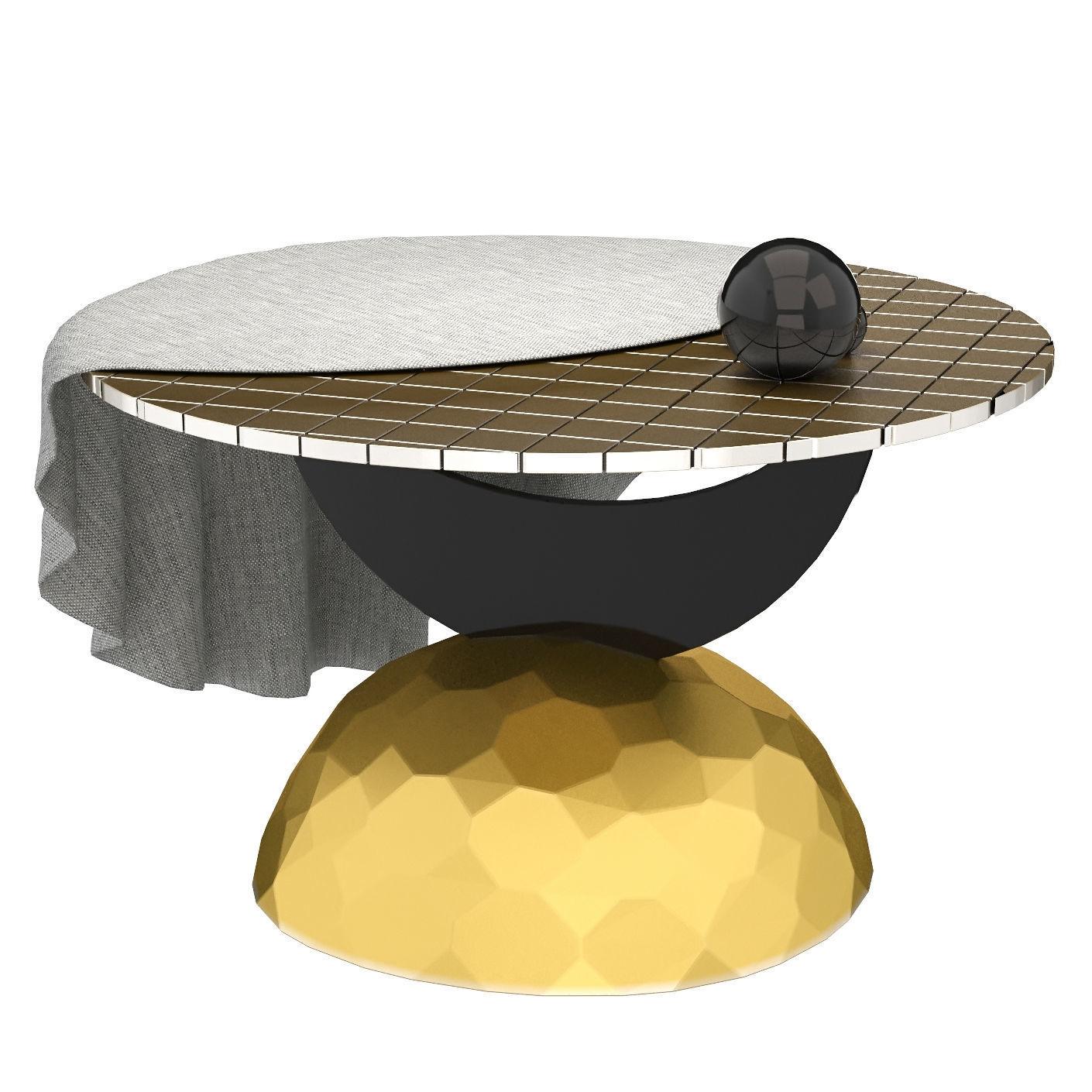 Merveilleux ... Half Moon Coffee Table 3d Model Max Obj Fbx Mtl 5 ...