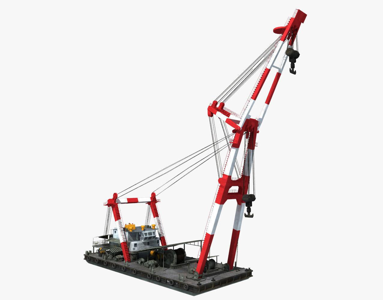 Floating Crane 3D Model .max .obj .fbx - CGTrader.com
