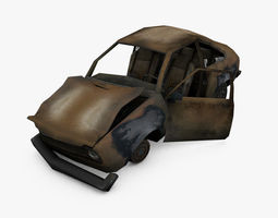 3D asset Damage Car