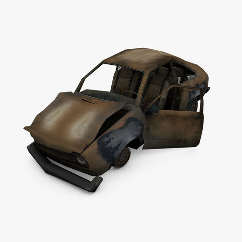 3d Asset Damage Car Cgtrader