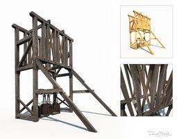 Old Mine Construction 3D asset