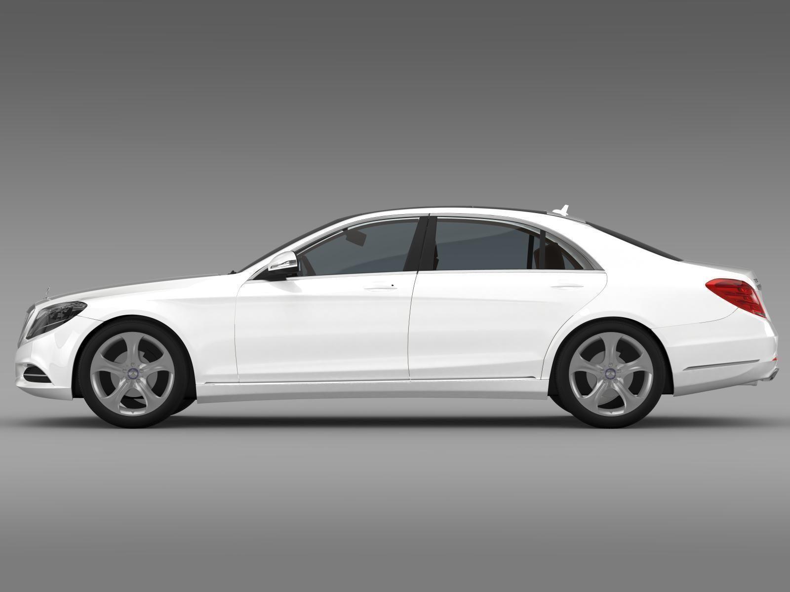 Mercedes benz s 500 plug in hybrid w222 2013 3d model max for Mercedes benz hybrid models