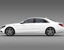 Mercedes Benz S 500 W222 2013 3D Model