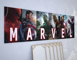 3D Pictures set Super hero