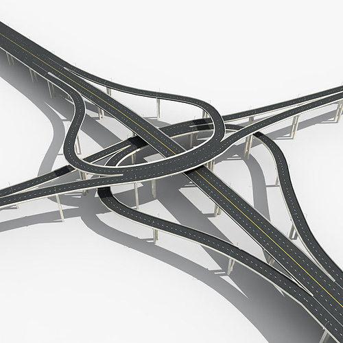 highway viaduct 3d model max obj mtl fbx 1