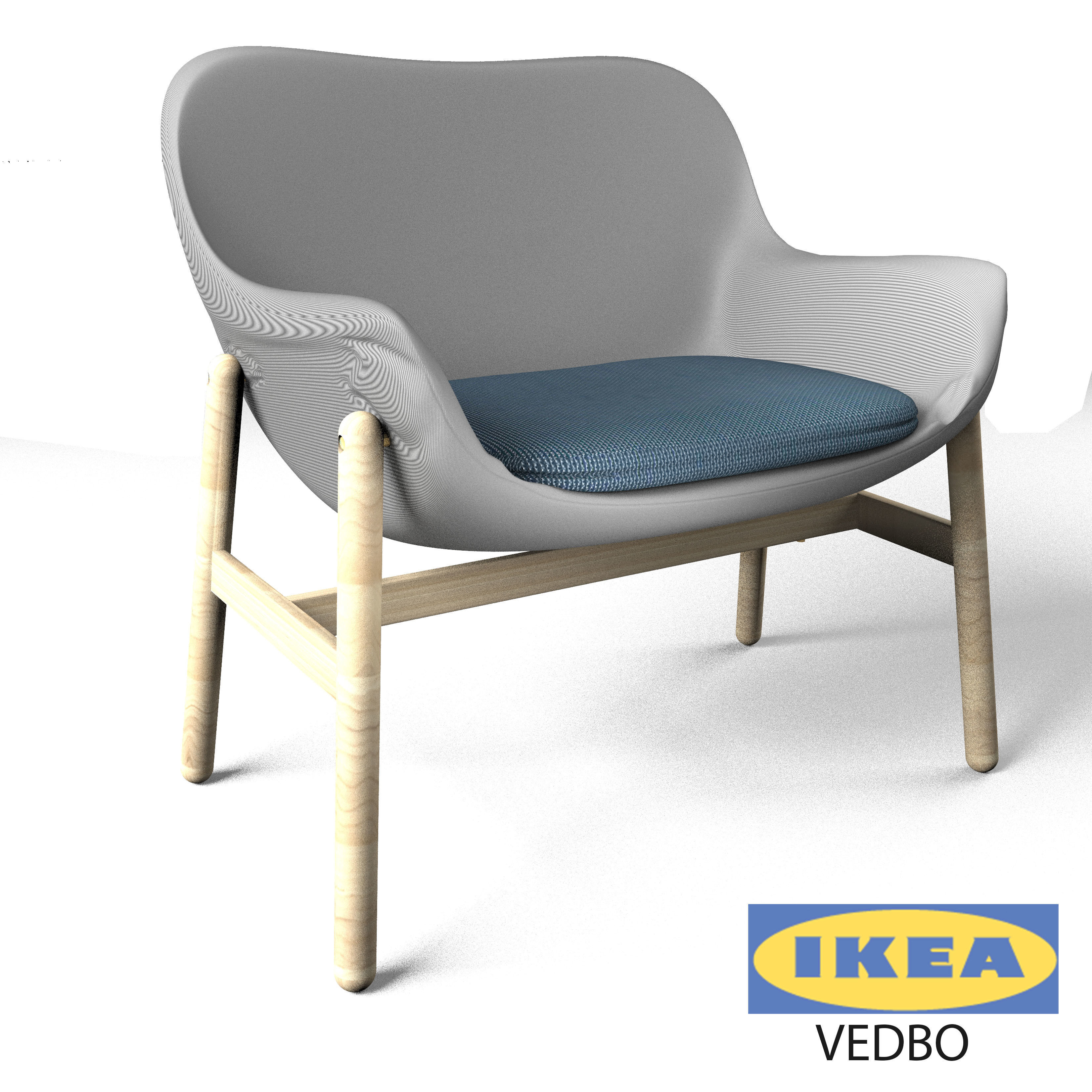 Ikea Arm Chair 3d Model Max Obj Fbx Mtl Mat 1