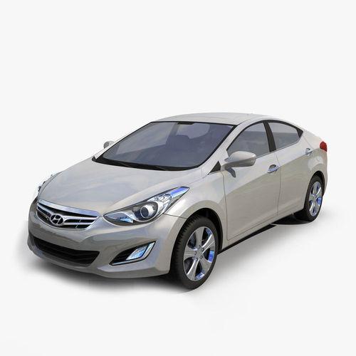 Hyundai Elantra 2012 CHINA3D model