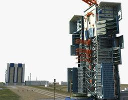 jiuquan satellite launch center 3d