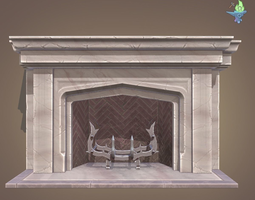 3D model Neo Gothic Fireplace
