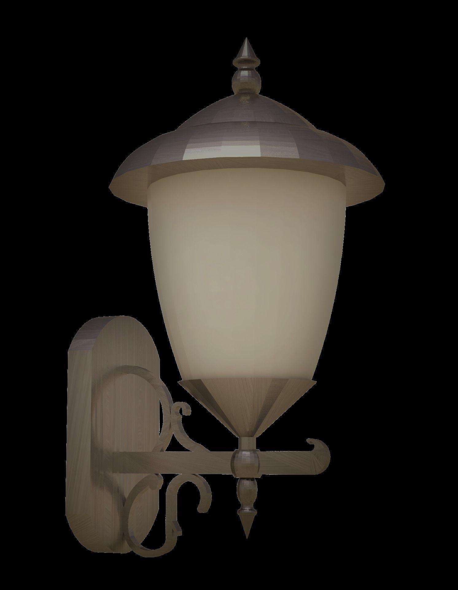 Wall Hung Light Fixture Model Low Poly Obj Mtl S Fbx Stl M 1