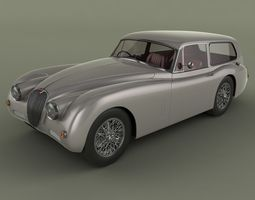 Jaguar XK150 Tow Car 3D Model