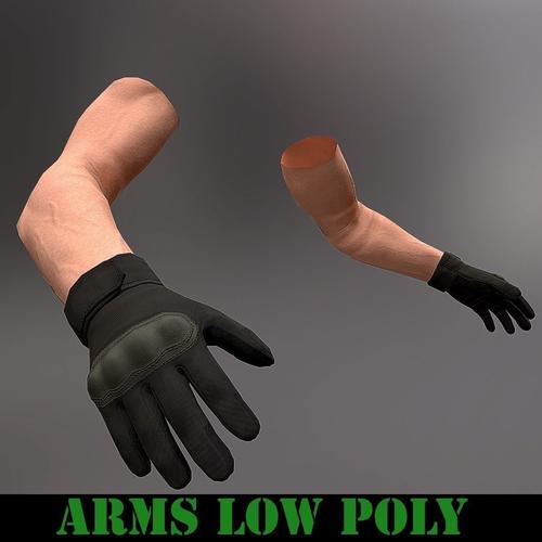 arms low poly 3d model low-poly obj mtl 1