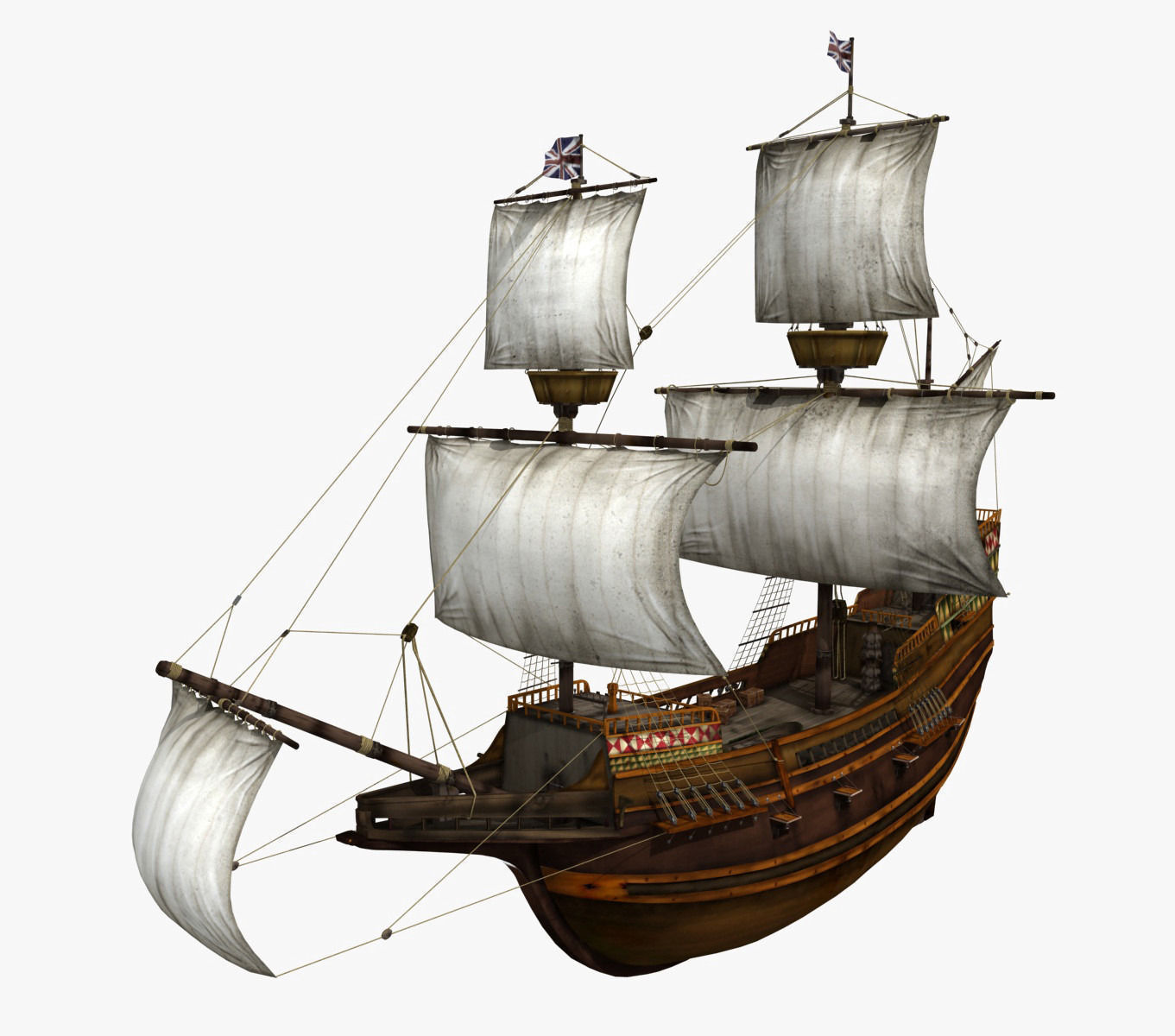 Mayflower 3d model max obj fbx for Mayflower car shipping
