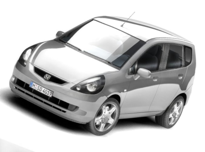 Honda Fit - Jazz 2004 3D Model .max .3ds - CGTrader.com