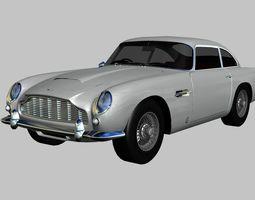 Aston Martin DB5 Vantage 1964 3D model game-ready