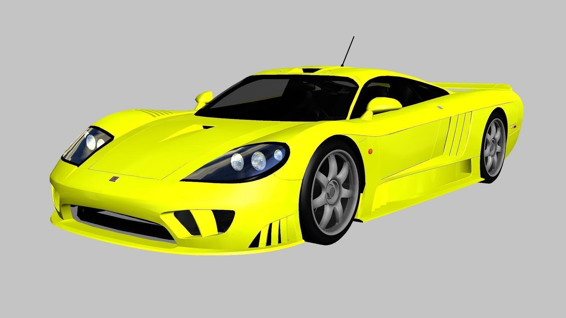 Saleen S7 2004 3D asset