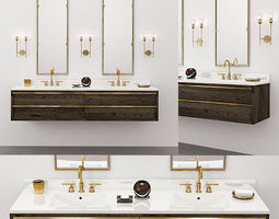 3D BEZIER DOUBLE EXTRA-WIDE FLOATING VANITY