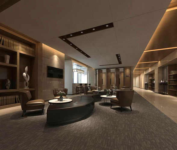 Banquet Hall Design: Office Reception Hall Design Complete 11 3D