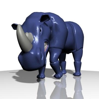 monster 3d model for rhino