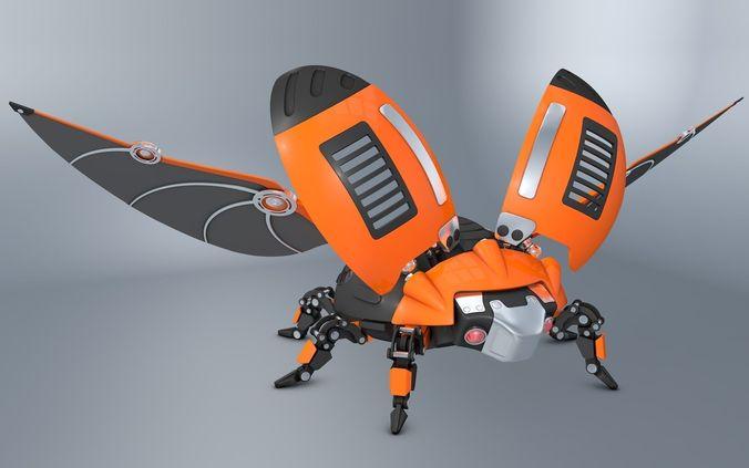 Beetle Ladybug robot3D model