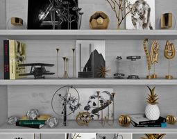 Decorative sets Shelves 2 3D