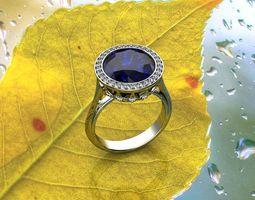 Sapphire Engagement Rings 3D print model