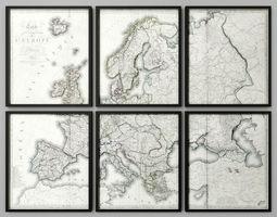3D model 1816 MAP OF EUROPE RH