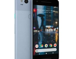 3D model low-poly Google Pixel 2 Kinda Blue