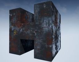 3D model Seamless Customizable Metal Material Pack 104