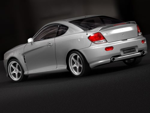 hyundai coupe 2005 3d model max 3ds. Black Bedroom Furniture Sets. Home Design Ideas