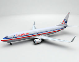 3D model Boeing 737-800 NG Airliner - American Airlines