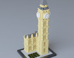 3D model Lego Architecture Big Ben 21013
