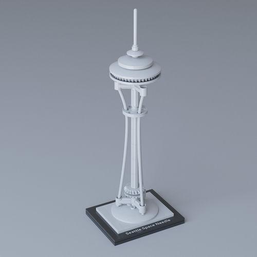 lego architecture space needle 21003 3d model max obj 1