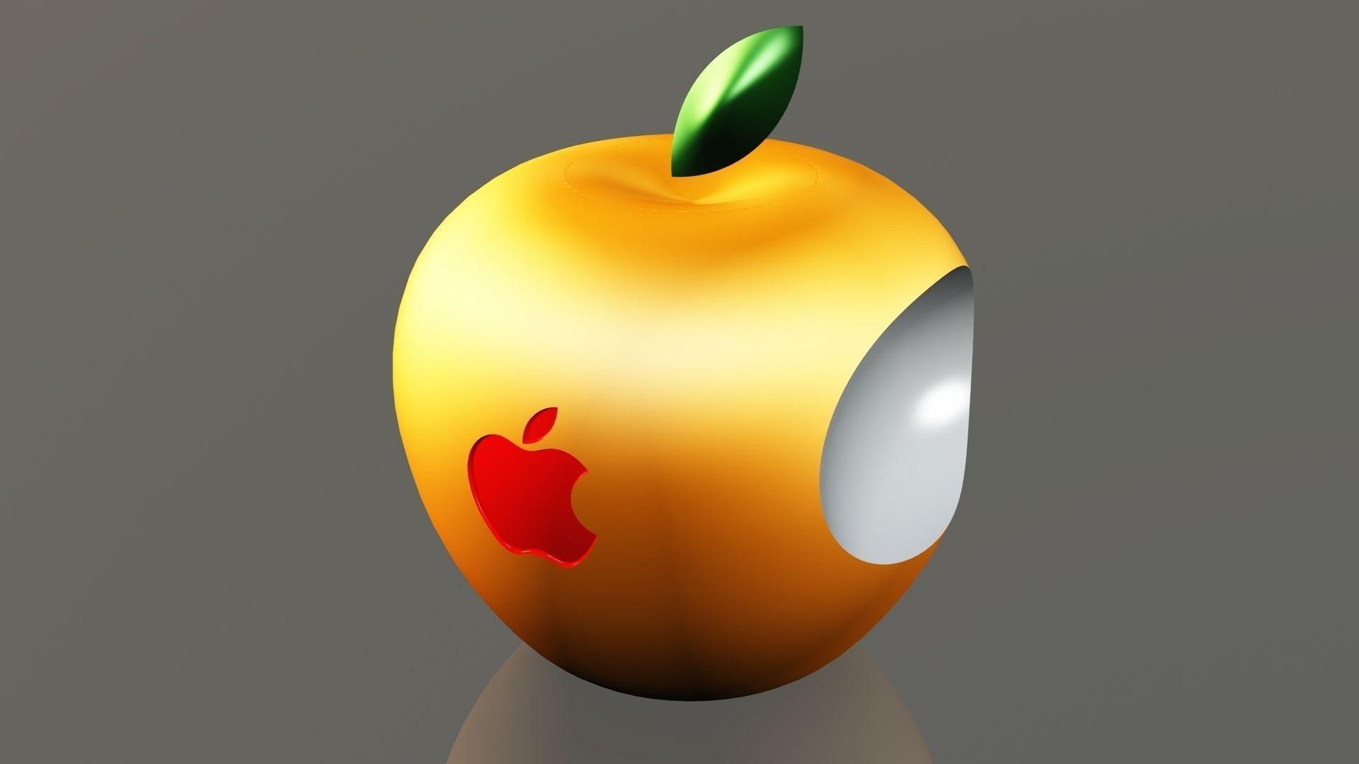 3D Apple Logo free 3D Model 3D printable .stl .dwg .sldprt .sldasm .slddrw .ige .igs .iges