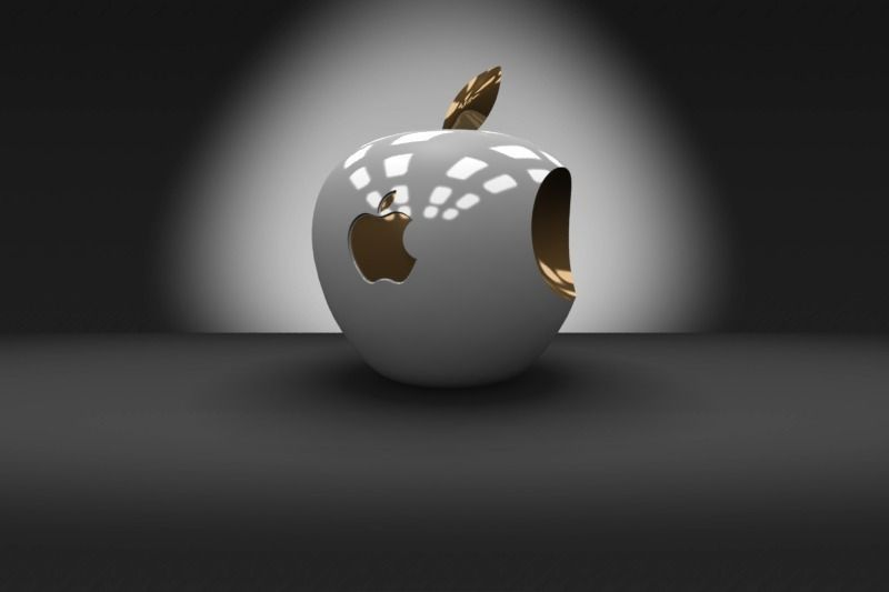 3D Apple Logo free 3D Model 3D printable .stl .dwg .sldprt ...