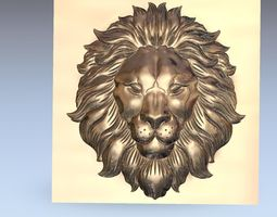 lion head relief 3d model for cnc