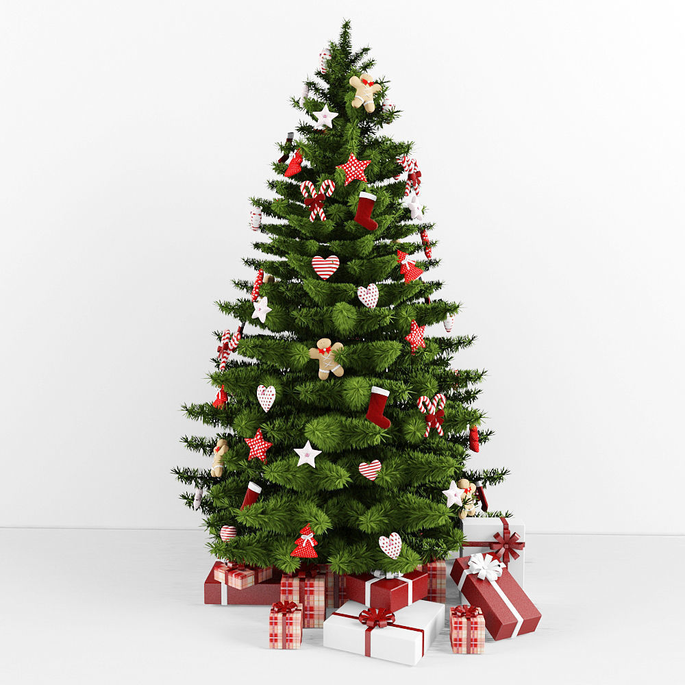 Christmas Tree Garland.Christmas Tree 3d Model