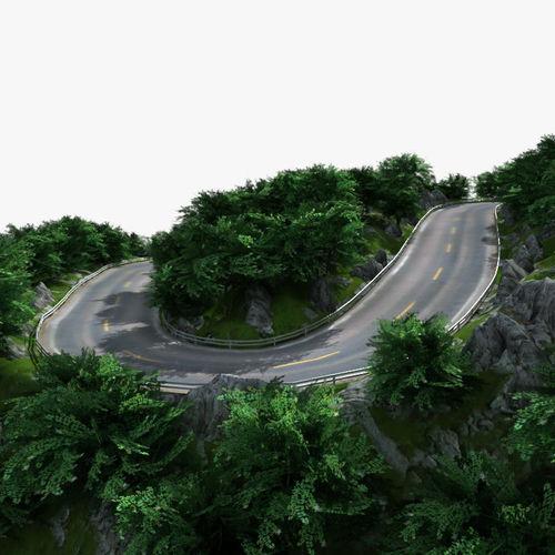 Mountain Road 013D model