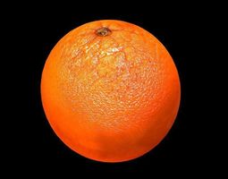 orange 3D asset low-poly