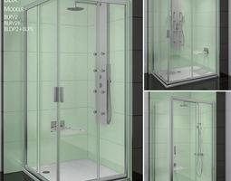 Corner shower cabins Ravak Blix 3D model