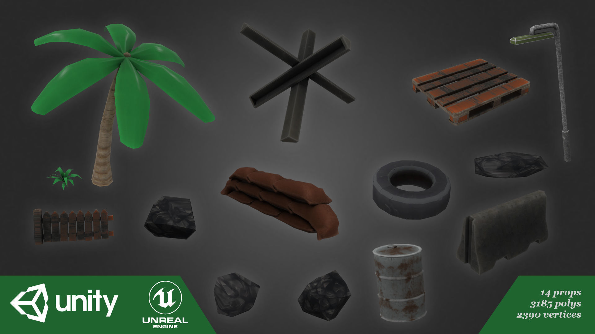 3D asset low-poly Low Poly Props   CGTrader