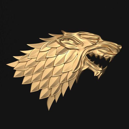 game of thrones - house stark 3d model max obj mtl stl 1