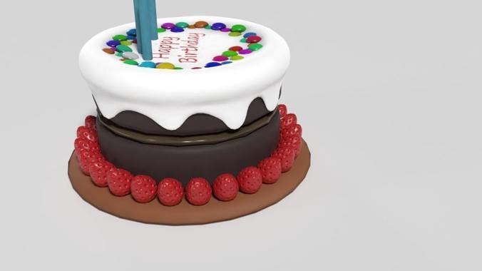 3d Blender Birthday Cake Cgtrader